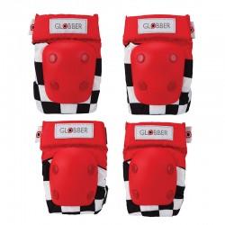 Kit protecciones Rojo: Coderas y Rodilleras -...