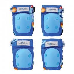 Kit protecciones Azul: Coderas y Rodilleras -...