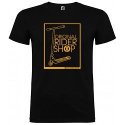 Camiseta negra ScooterXtreme - Rider Logo