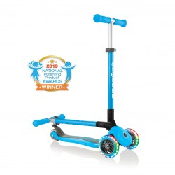 Patinete Globber Primo Foldable Lights Azul Cielo