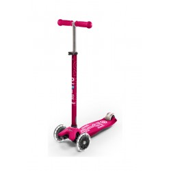 Patinete Maxi Micro Deluxe Rosa LED
